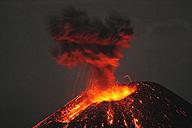 Indonesia, Sumatra, Krakatoa volcano erupting - RMF00394