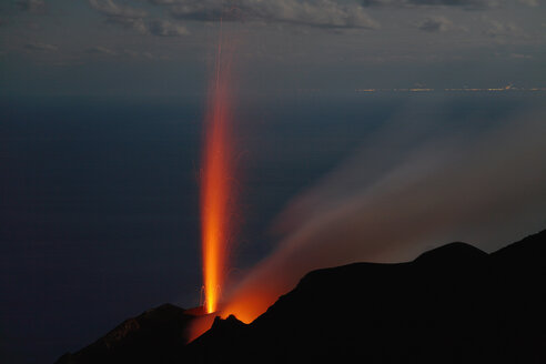 Volcano eruption, elevated view - RMF00358