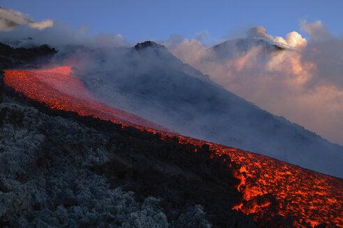 Italy, Sicily, Lava flow from Etna volcano - RMF00352