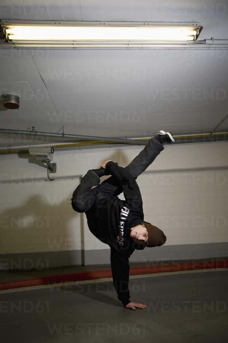 Man performing break dancing, portrait. - PKF00369 - Phillip Koschel/Westend61