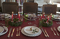 Place setting on dining table - NHF01211