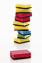 Stack of kitchen sponges against white background - 12184CS-U