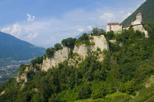 Italy, South Tyrol, Castle on mountain - SMF00611
