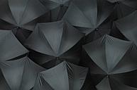 Open black umbrellas, close up - ASF04099