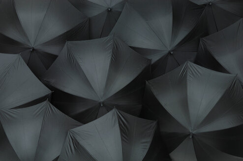 Open black umbrellas, close up - ASF04099