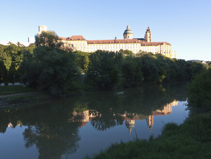 Austria,  View of Melk Abbey with river - LFF000176