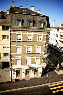 Switzerland, Basel, residential building at crossing - LFF000193