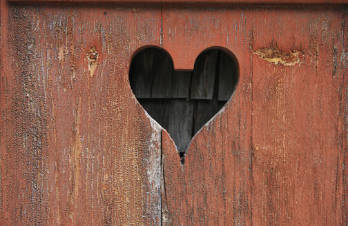 Switzerland, Painted wood board with carved heart symbol - KSWF000594