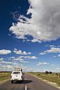 Africa, Botswana, Land vehicle passing through trans-kalahari highway - FOF002160