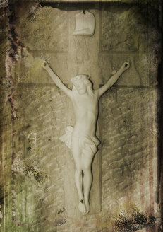 France, Alsace, Jesus christ, close up - AWD000605