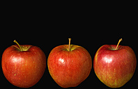 Red apples against black background - PSF000586