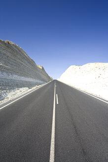 Spain, Granada, View of highway passing through calcareous rock - MSF002398