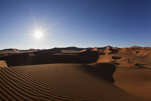 Africa, Namibia, Namib Naukluft National Park, View of sand dunes at the naravlei in the namib desert - FOF002441