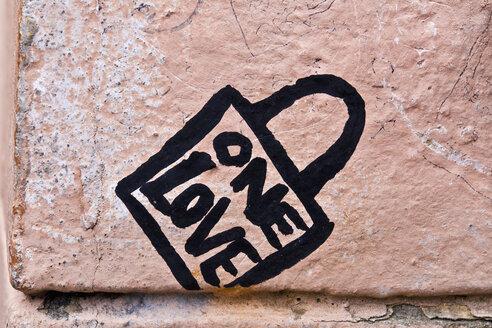 Czechoslovakia, Prague, Graffiti on wall - WVF000077