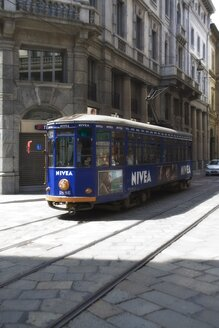 Italy, Milan, Cable car in city - HK000286