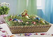 Basket with eater bunny and eggs - WBF000072