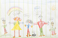 Germany, Munich, Child's drawing in exercise book - CRF001951
