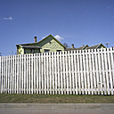 Estonia, Wooden house behind a fence - PMF000831