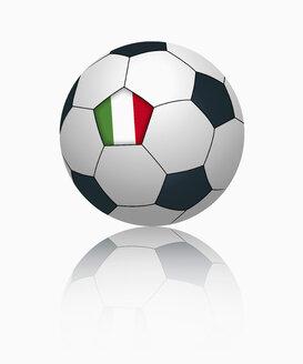 Italian flag on football, close up - TSF000030