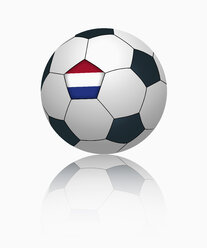 Dutch flag on football, close up - TSF000039