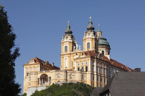 Austria, Lower Austrai, Wachau, Mostviertel, Waldviertel, View of stift melk abbey - SIEF000253
