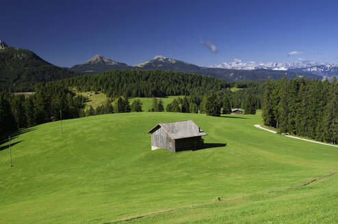 Italy, South Tyrol, View of landscape and dolomities alps - SMF000663