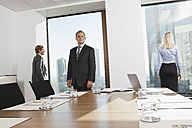 Germany, Frankfurt, Business people in conference room - SKF000534