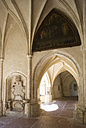 Germany, Bayern, Laufen, View of abbey church cloister - WW001825