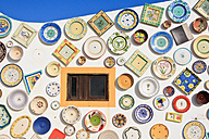 Portugal, Algarve, Sagres, Wall of plates - WVF000133