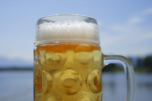 Europe, Germany, Bavaria, Upper Bavaria, Beer in mug, close up - TCF001382