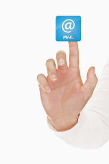 Human hand touching mail icon - TSF000145