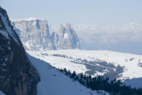 Austria, South Tirol, View of mountain in snow - MRF001230