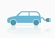 Car with power cable, close-up - TSF000185
