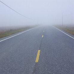 Germany, View of foggy street - WBF000839