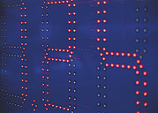 Red lights emitting numbers on diodes - WBF000857