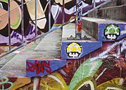Paris, France, Graffiti on stairs - WBF000959