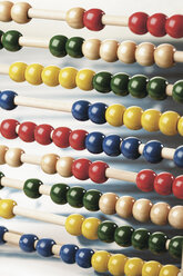 Close up of abacus on white background - WBF001027