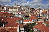 Portugal, Lisbon, View across the old town alfama district to monastery of sao vicente de fora - PSF000447