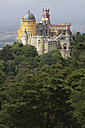 Portugal, Estremadura, Sintra, View of pena national palace - PSF000458