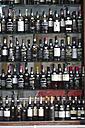 Portugal, Lisbon, Display of port bottles in shop - PS000463