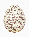 Easter egg against white background, close up - WBF001042