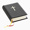 Christian bible against white background, close up - WBF001049