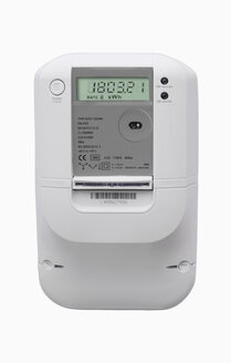 Electronic meter against white background - WBF001121
