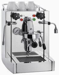Espresso machine on white background, close up - WBF001207