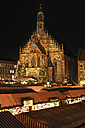 Germany, Bavaria, Franconia, Frauenkirche, Nuremberg, View of Christkindlmarkt - SIEF001189