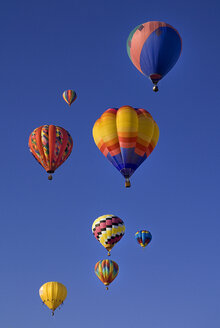 USA, New Mexico, Albuquerque, Air balloons at balloon fiesta - PSF000560