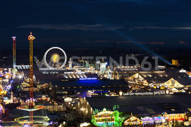 Germany, Bavaria, Munich, View of Oktoberfest fair at night - FO003328 - Fotofeeling/Westend61