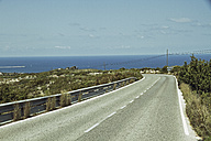 Spain, Denia, View of empty road - MBEF000092