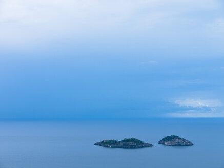 Italy, Amalfi Coast, Positano, View of islands in mediterranean sea - LFF000299