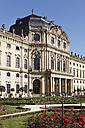 Germany, Bavaria, Wuerzburg, View of wuerzburg residence with garden - SIEF001882